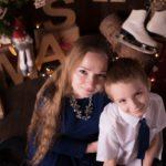 Świąteczna sesja mamy i synka