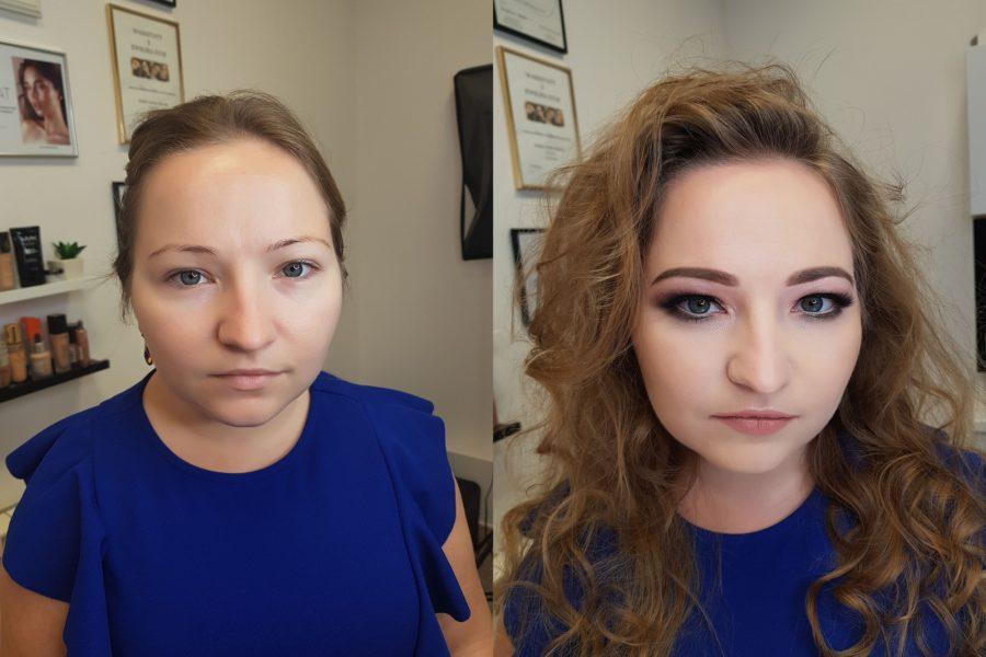 makijaż wieczorowy metamorfoza miniaturowej